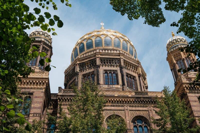 De Nieuwe Synagoge van Neue Synagoge in Berlijn royalty-vrije stock fotografie