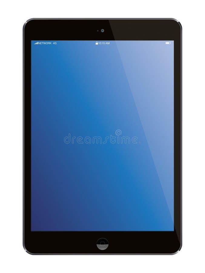 De nieuwe tablet van de de Lucht draagbare computer van Apple iPad stock illustratie