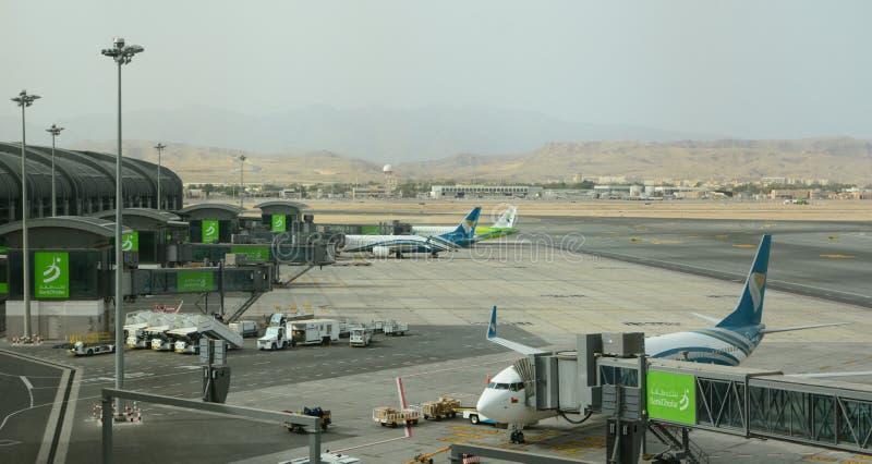 De nieuwe terminal Muscateldruif internationale luchthaven oman royalty-vrije stock afbeelding