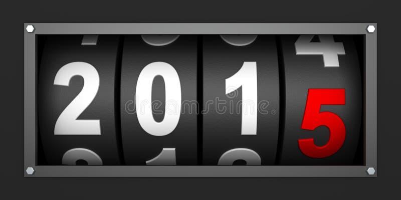 2015 de Nieuwe tijdopnemer van de jaaraftelprocedure vector illustratie