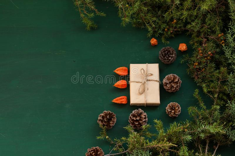 De nieuwe van het de giftendecor van de jaarboom van de de decoratievakantie achtergrond van de winterkerstmis stock afbeeldingen
