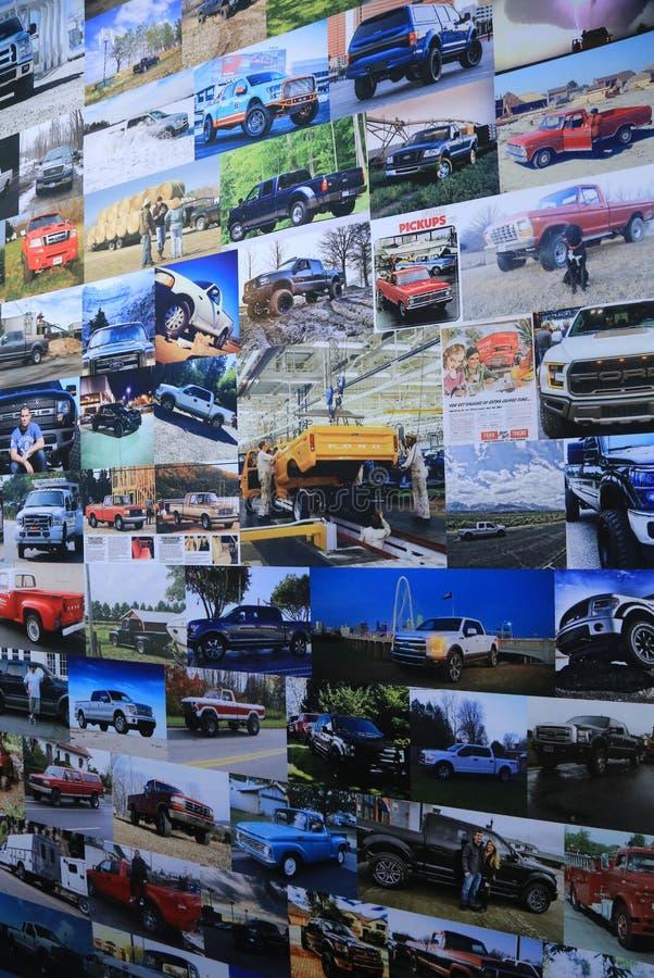De nieuwe voertuigen van Ford van 2018 op Vertoning bij Noordamerikaanse Internationale Auto tonen stock foto's