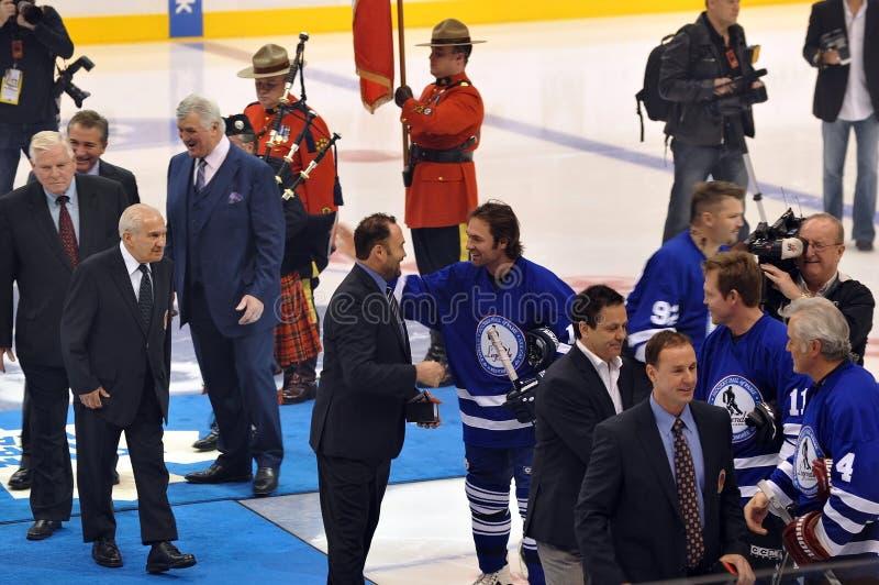 De nieuwe Zaal van het Hockey van inductees van de Bekendheid royalty-vrije stock afbeelding
