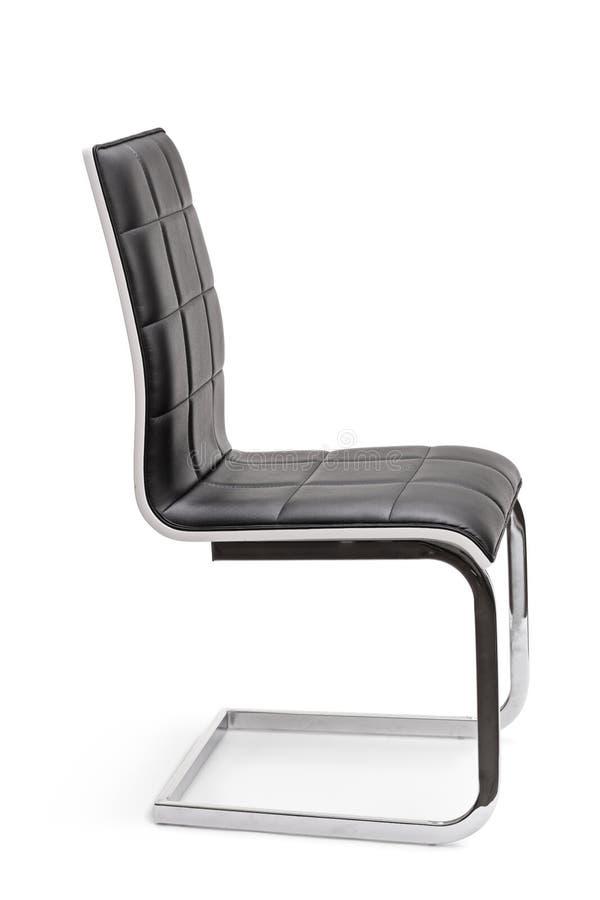 De nieuwe zwarte stoel van het leerbureau stock foto