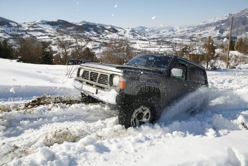 De nieve del camino imagen de archivo