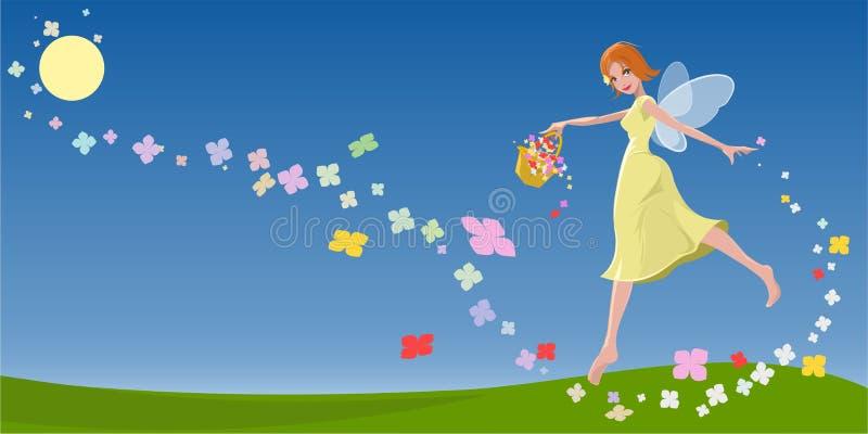 De Nimf van de Fee van de lente royalty-vrije illustratie