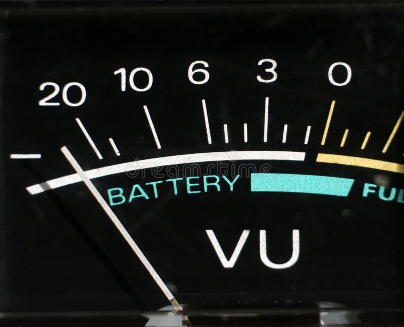 De niveaus van de batterij royalty-vrije stock afbeelding