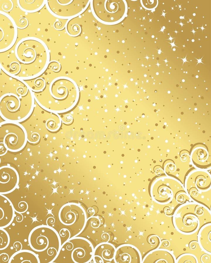 or de Noël de fond illustration libre de droits