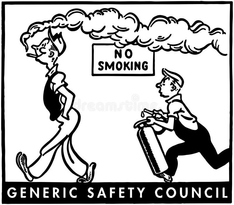 De no fumadores stock de ilustración