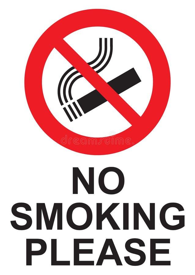 De no fumadores firme por favor stock de ilustración