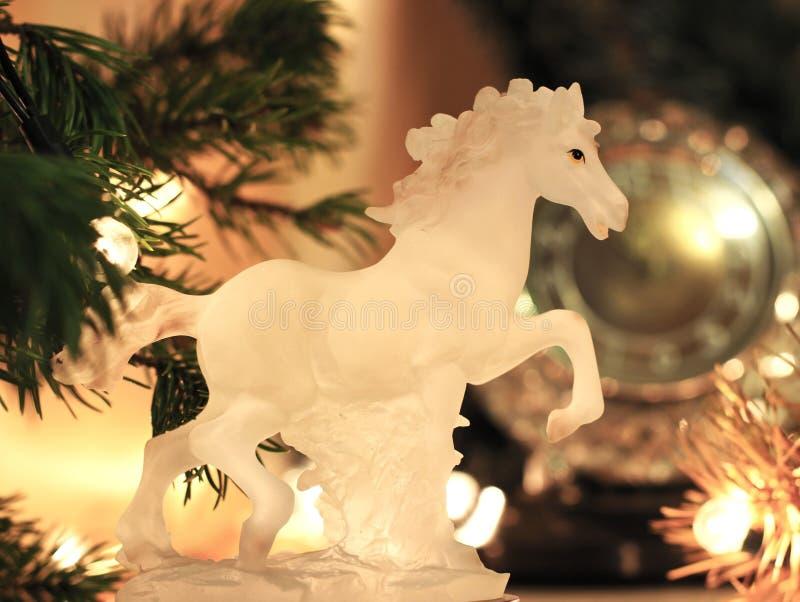 De Noche Vieja el fondo de la celebración con el caballo foto de archivo