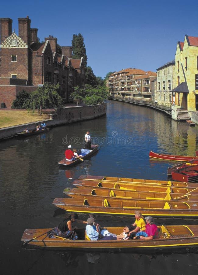 De nok Cambridge van de rivier stock foto