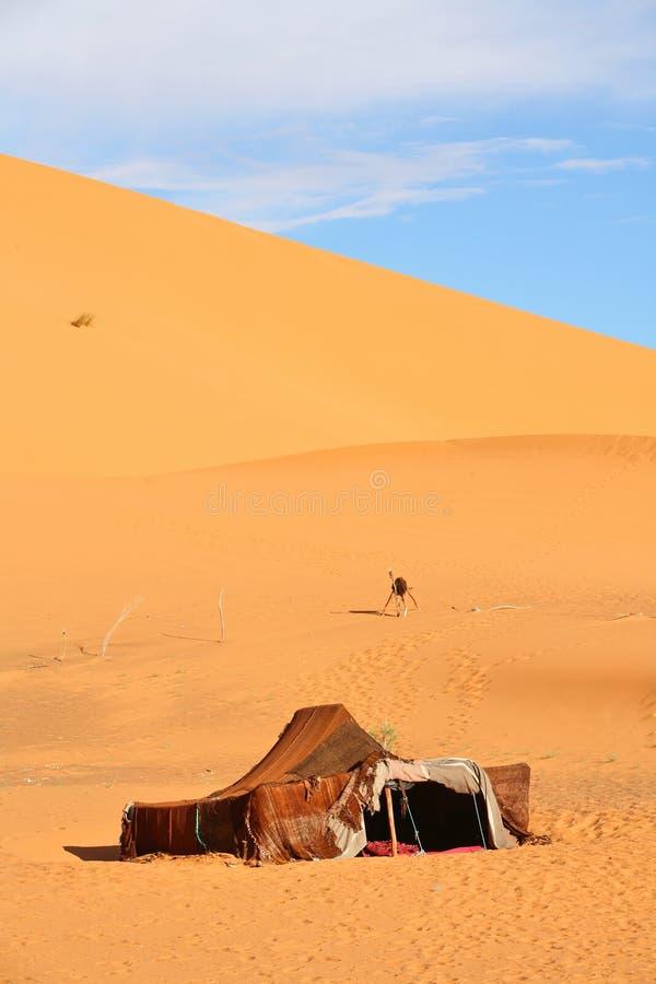 De nomade (Berber) tent stock fotografie