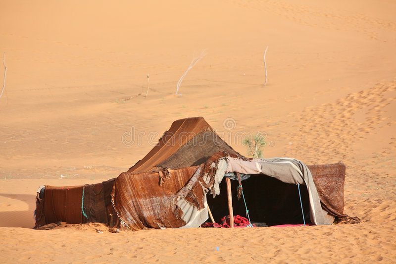 De nomade (Berber) tent stock foto