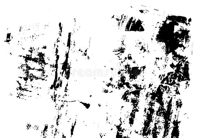 De Noodachtergrond van de inktdruk De textuur van Grunge Abstracte zwart-witte illustratie Vector vector illustratie