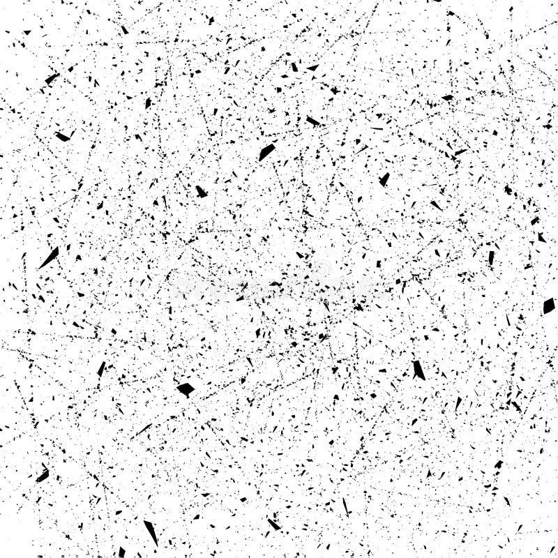 De Noodkorrel van de stofbekleding De vectorachtergrond van de grungetextuur Het effect van een oude, gekraste textuur Element vo vector illustratie
