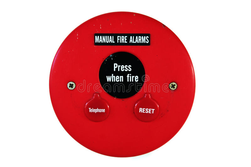 De noodsituatie van het brandalarm stock foto