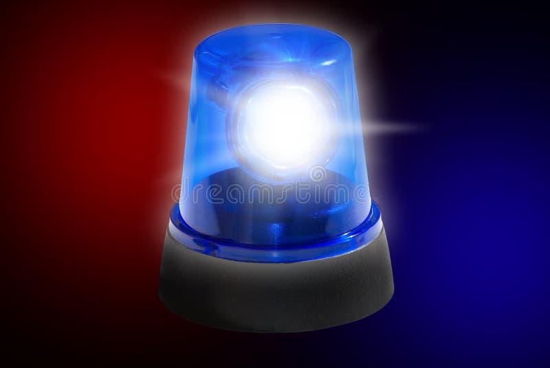 De Noodsituatielicht van de politiesirene royalty-vrije stock foto