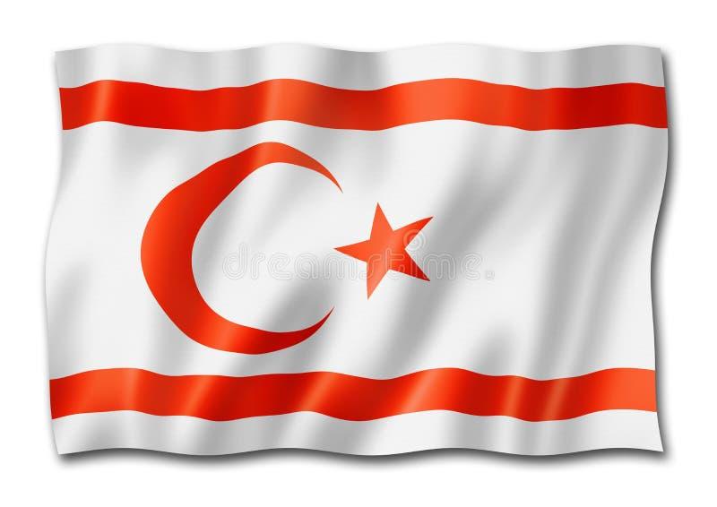 De noordelijke die vlag van Cyprus op wit wordt geïsoleerd royalty-vrije illustratie