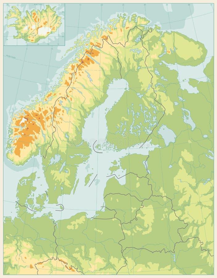 Download De Noordelijke Fysieke Kaart Van Europa Abstracte Kleur GEEN Tekst Vector Illustratie - Illustratie bestaande uit tekst, finland: 107708644