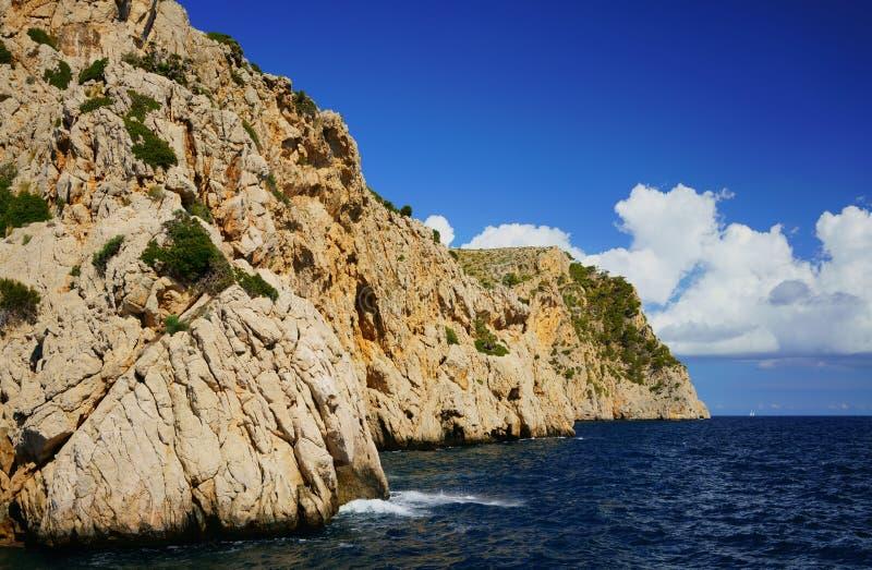 De noordelijke kust van Mallorca, Formentor-schiereiland Majorca, de Balearen, Spanje royalty-vrije stock foto's