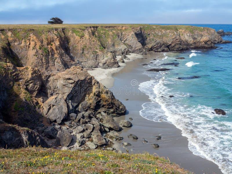 De noordelijke kustlijn van Californië royalty-vrije stock foto