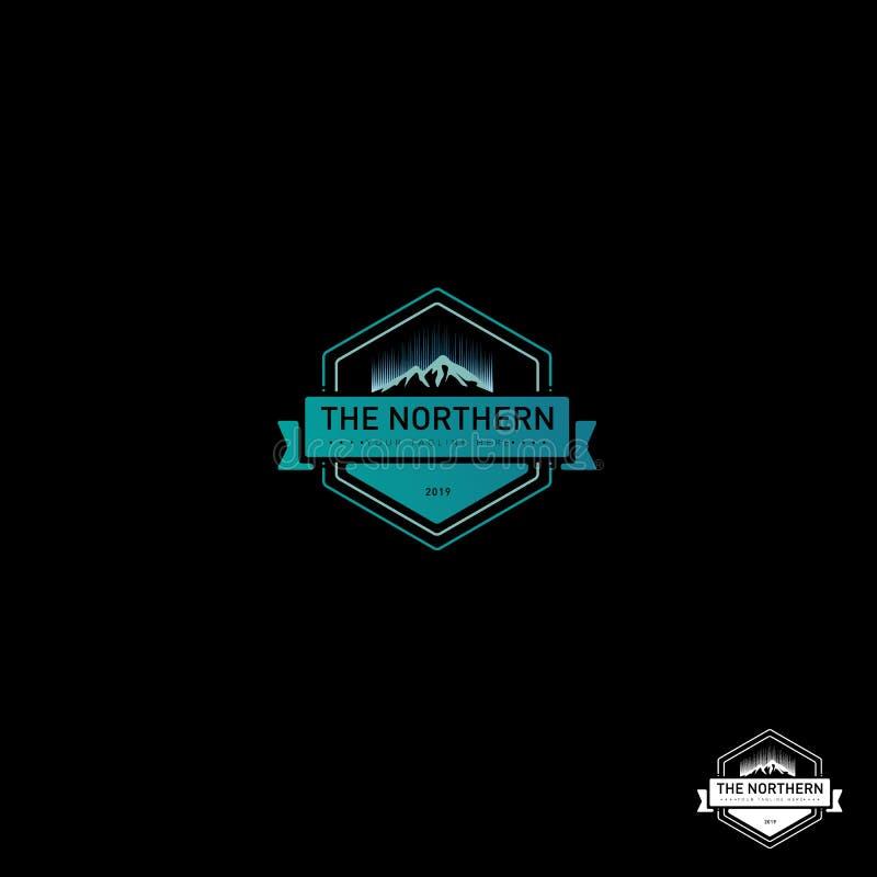 De Noordelijke Lichten Logo Design vector illustratie