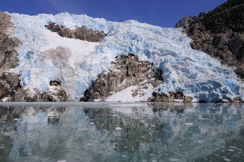 De Noordwestelijke Gletsjer van Alaska stock foto's