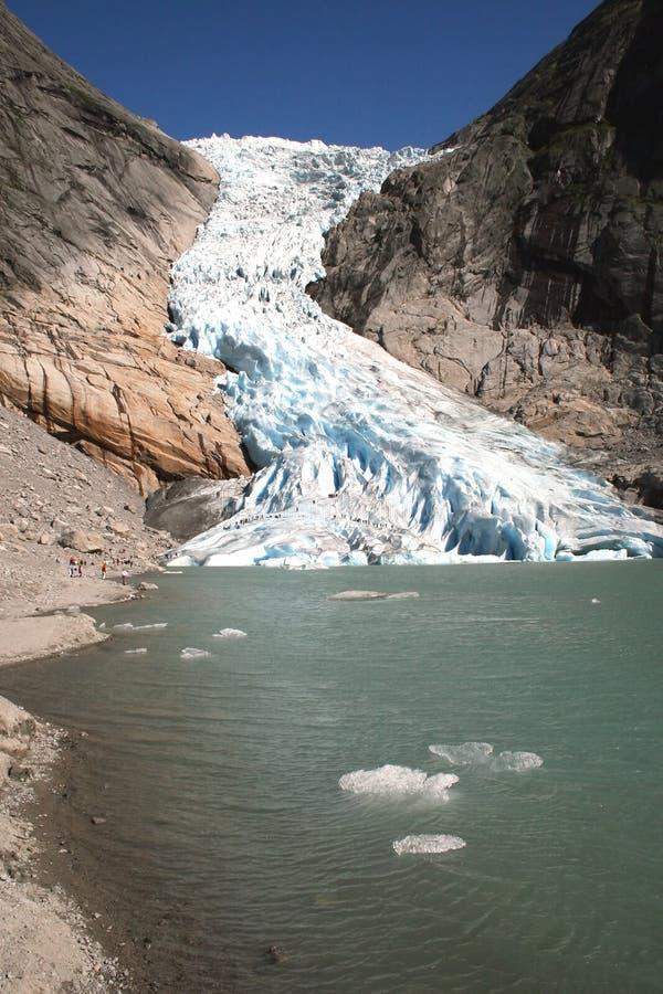 De Noorse Gletsjer stock foto's
