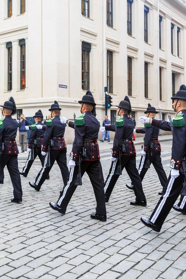 De Noorse Koninklijke Wacht stock fotografie