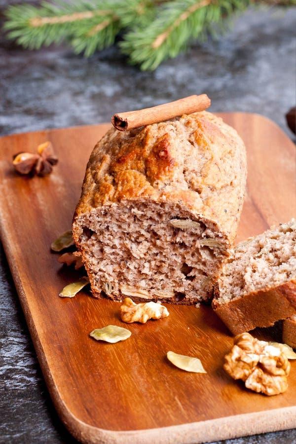 De Nootbrood van het banaanbrood royalty-vrije stock fotografie