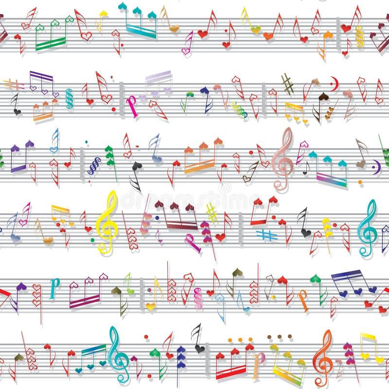 De nota correcte textuur van de muziek stock illustratie