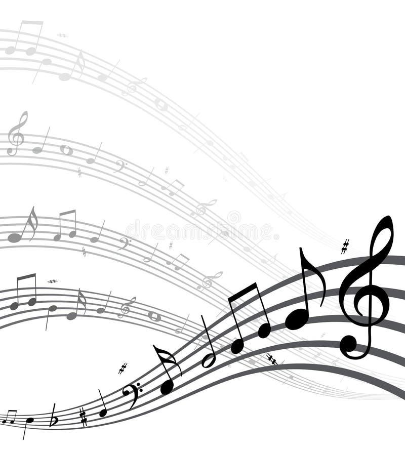 De nota's van de muziek royalty-vrije illustratie