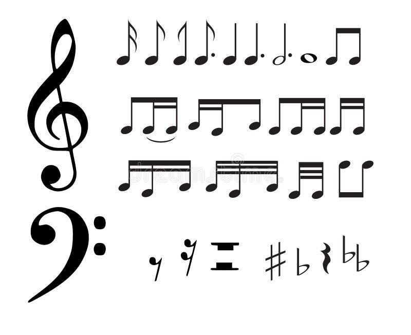 De nota's van de muziek