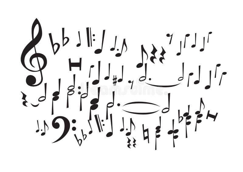 De Nota's van de muziek (vector) vector illustratie