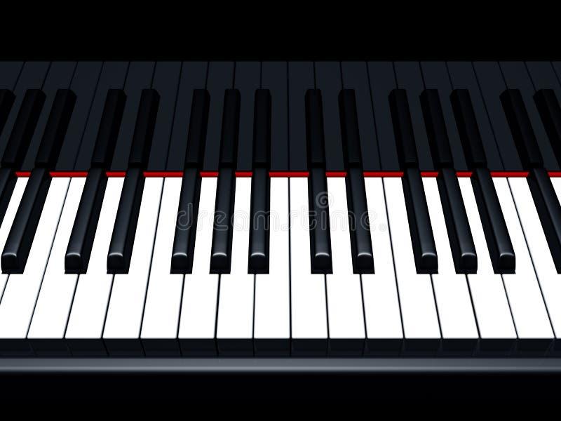 De nota's van de piano vector illustratie
