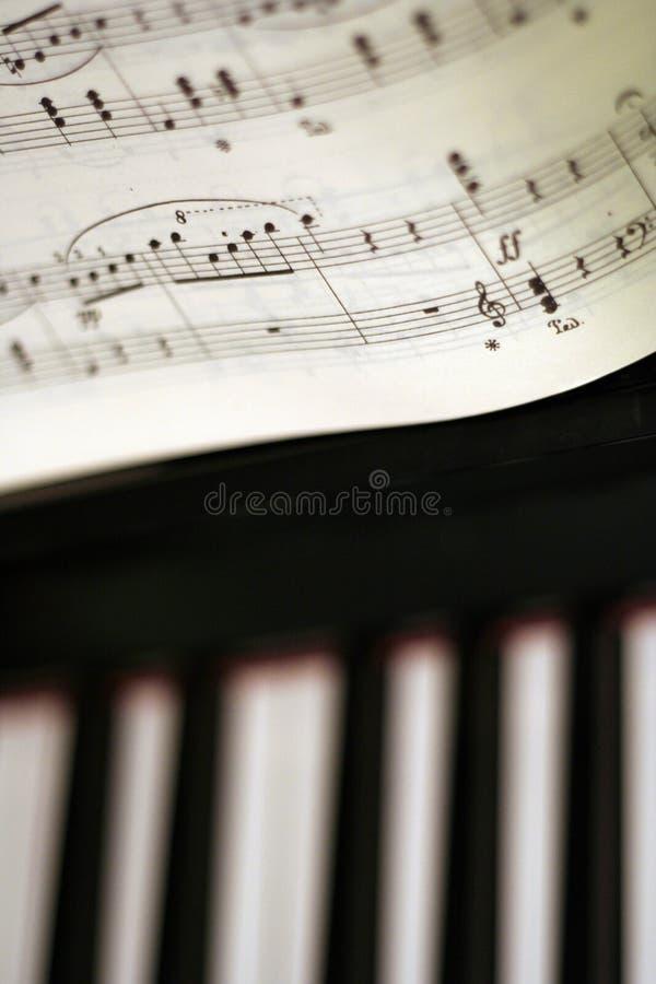 De nota's van de piano stock afbeelding