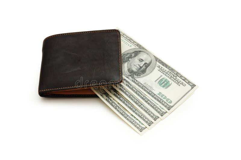 De nota's van de portefeuille en van de dollar royalty-vrije stock afbeelding