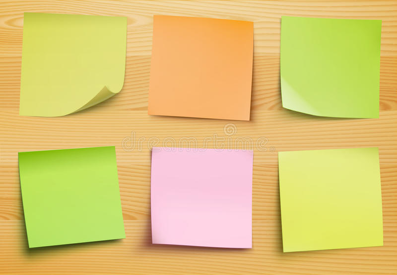 De nota's van de post-it vector illustratie
