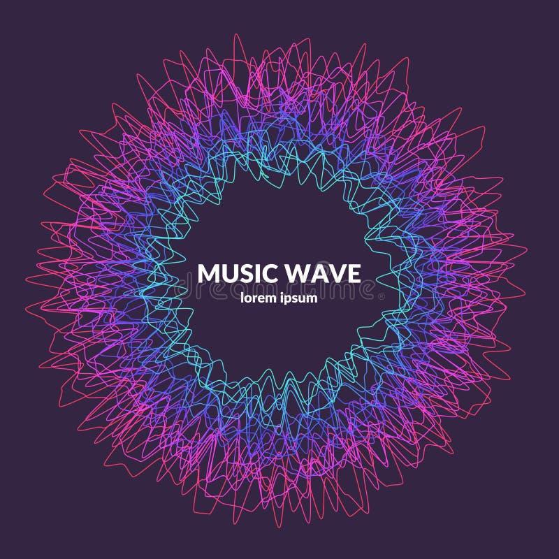 De Nota's van de piano (jpg+eps) Vector abstracte achtergrond met gekleurde dynamische golven royalty-vrije illustratie