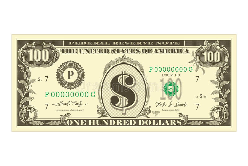 De Nota van de dollar stock illustratie