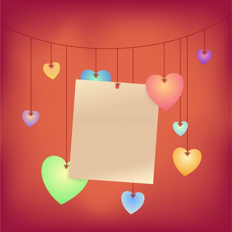 De Nota van de liefde royalty-vrije illustratie