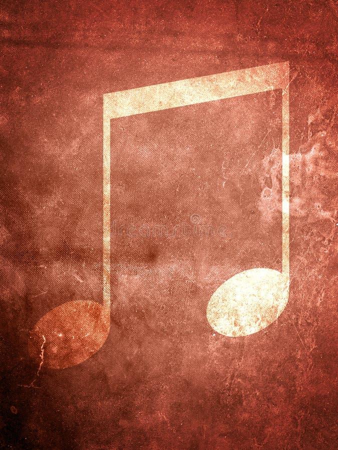 De Nota Van De Muziek Van Grunge Stock Afbeelding