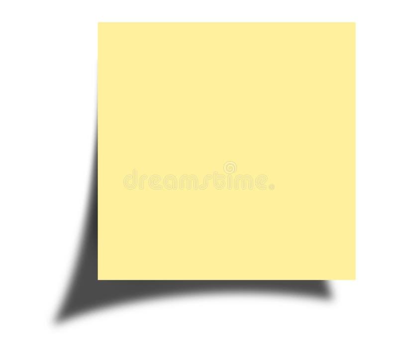 De nota van de post-it royalty-vrije stock afbeeldingen