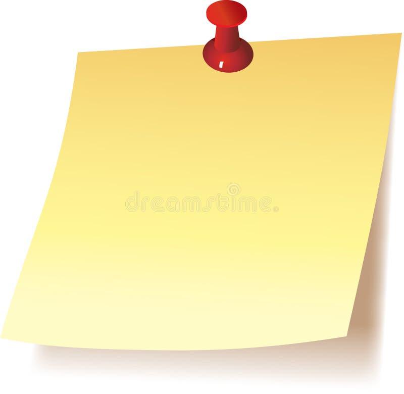De nota van de post-it