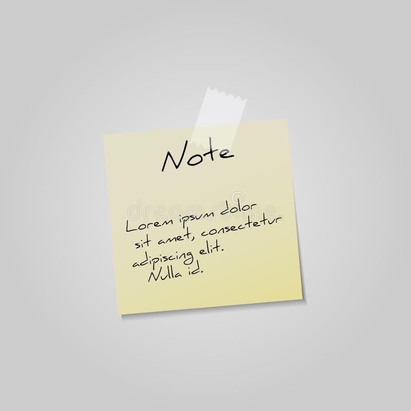 De Nota van de sticker stock afbeeldingen