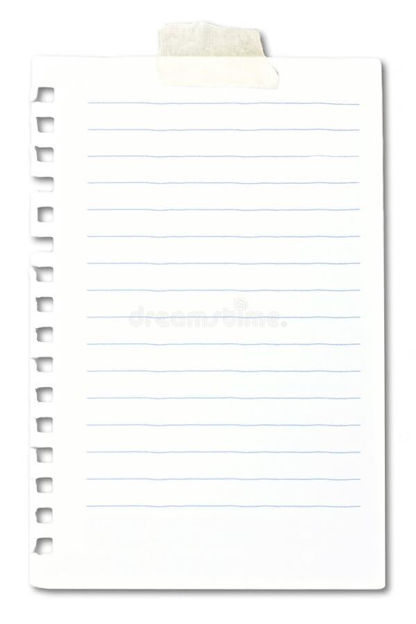 De nota van het document stock afbeelding