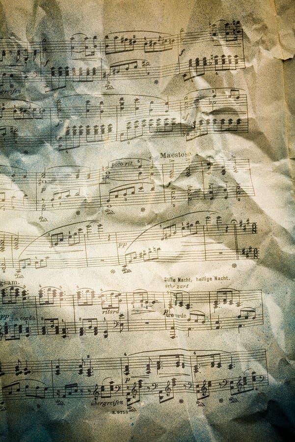 De notaachtergrond van de muziek stock foto