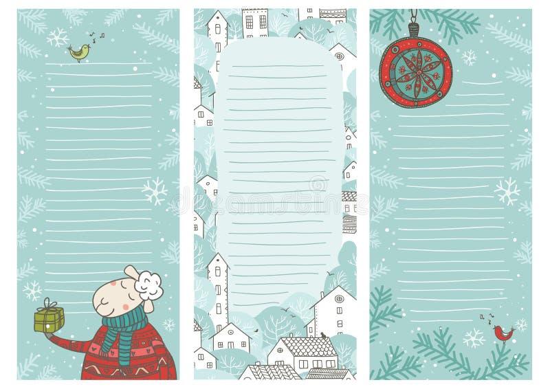 De notabladen van de Kerstmistijd stock illustratie