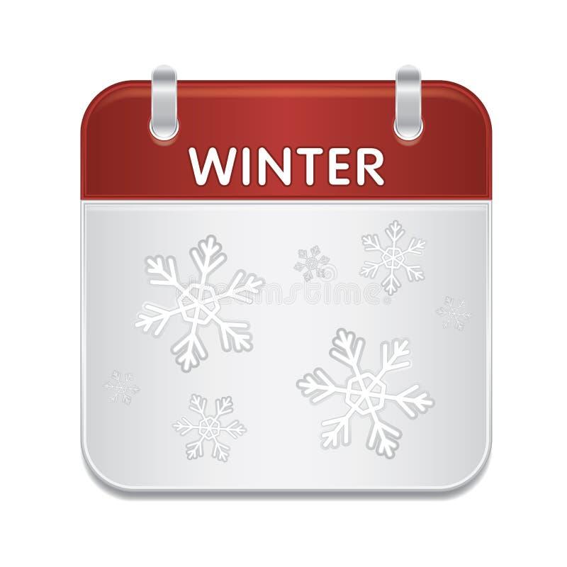 De notaboek van de kalender met sneeuwvlokken stock illustratie